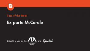 Ex Parte McCardle